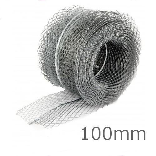 100mm Galvanised Coiled Mesh Lath - 20m length